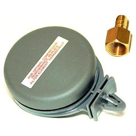 Show details of VIAIR 92631 Metal Housing Remote Inlet Air Filter - 1/4in NPT.