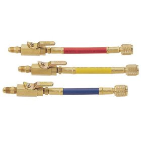 Show details of Mastercool 90262 3 Piece Manual Shut-off Valve Adapter Set.