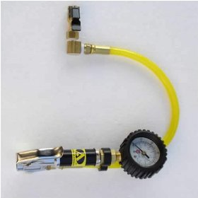 Show details of Powertank TIG-8170 Tire Inflator With Guage, HD 160 psi, Clip-on Chuck.