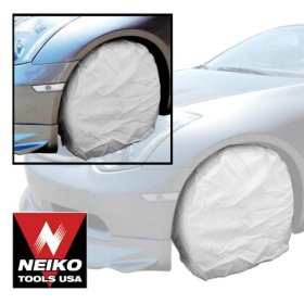 "Show details of 4pc 25"" Canvas Wheel Protector Set, Car, RV, Automobile."