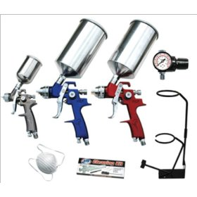 Show details of Advanced Tool Design Model ATD-6900 9 Piece HVLP Spray Gun Set.