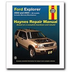 Show details of Haynes Ford Explorer and Mercury Mountaineer (2002 - 2003) Repair Manual.