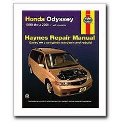 Show details of Haynes Honda Odyssey (1999 - 2004) Repair Manual (Paperback).