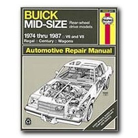 Show details of Haynes Buick Mid-size (RWD) (74 - 87) Repair Manual.
