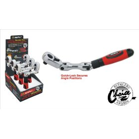"Show details of AmPro T19048 Double-Flex 3/8"" Drive Quick Release Ratchet."