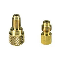 "Show details of 1/4"" Female"" x 1/2"" Male Adapter 3 Pack (CPSAD48) Category: Air Conditioning Charging Supplies."