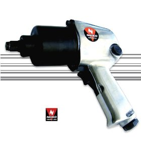 "Show details of Heavy-Duty Twin Hammer 1/2"" Air Impact Wrench - 500+ Ft-Lbs - 5 Power Settings."