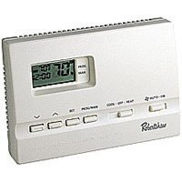Show details of Robertshaw 9600 Programmable (5+2 day) 1 Heat/1 Cool Battery Powered Thermostat.