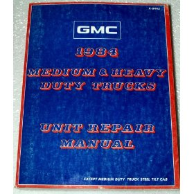 Show details of 1984 GMC Medium Duty Truck Unit Repair Manual.