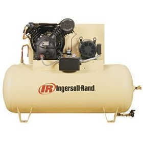 Show details of - Ingersoll Rand Type-30 Reciprocating Air Compressor (Fully Packaged) - 10 HP, 200 Volt 3 Phase, Model# 2545E10FP.