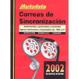 Show details of Autodata (AUT02180SP) 2002 Edition Timing Belt Manual - Spanish Edition.