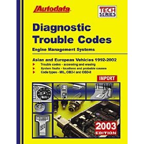 Show details of Autodata (AUT03350) 2003 Import Diagnostic Trouble Codes Manual.