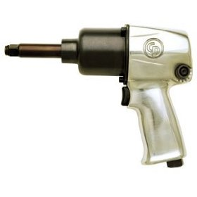 "Show details of 1/2"" Air Impact Wrench with 2"" Extended Anvil."