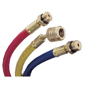 Show details of Mastercool 84722 72in. Yellow Hose for R134a.