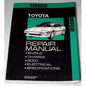 Show details of 1989 Toyota MR2 Repair Manual.