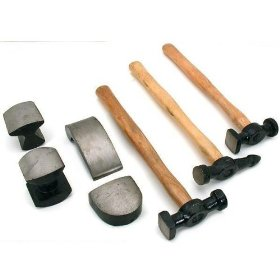 Show details of 7pc Auto Body Repair Kit Hammer Dolly Automotive Tools.