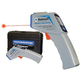 Show details of Mastercool MSC52224A Infrared Thermometer in Case with FREE MSC52220 Analog Thermometer.