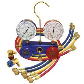 Show details of Dual R-134a/R-12 Manifold Gauge Set - Mastercool MSC-98660SP.