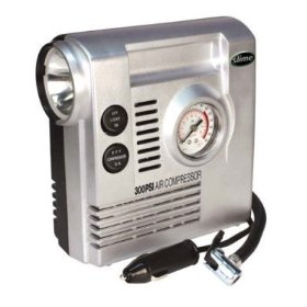 Show details of Slime COMP03 12-Volt Air Compressor with Gauge and Light (300 PSI).