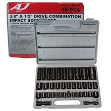 "Show details of 38 PC 3/8"" & 1/2"" AIR IMPACT SOCKET - AUTOMOTIVE TOOLS."