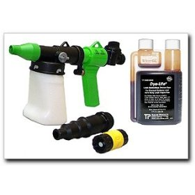 Show details of Tracerline Wind and Water LeakFinder Gun and Dye Kit.