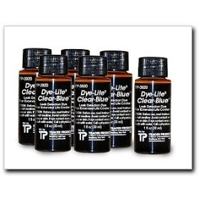 Show details of Tracerline Dye-Lite Clear-Blue Dye, 8 oz., Case of (6) 1 oz. bottles.