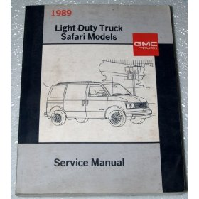 Show details of 1989 GMC Safari Van Service Manual.