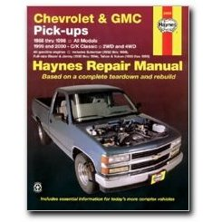 Show details of Haynes Chevrolet and GMC Pick-ups 2WD and 4WD (88 - 00) Manual.
