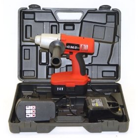 Show details of 'Monster Torque' Ultra-Duty 24-Volt Cordless Impact Wrench - 300 FT-LBS Torque - 2 Batteries.