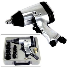 "Show details of Air Impact Wrench Set 1/2"" Gun Socket Kit 17 Pcs."