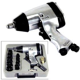 """Show details of Air Impact Wrench Set 1/2"""" Gun Socket Kit 17 Pcs."""
