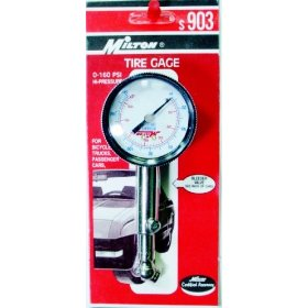 Show details of Milton Dial Type Air Gauge 0-160 psi.