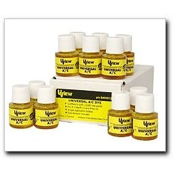 Show details of UView Universal A/C System Dye, 12 - 1/4 oz. bottles.