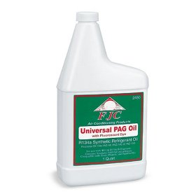 Show details of FJC, Inc. 2480 PAG Universal Oil with Fluorescent Leak Detection Dye (1 Quart).