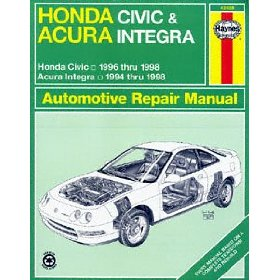 Show details of Haynes Honda Civic and CR-V Acura Integra (94 - 00) Manual.