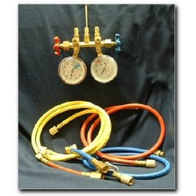 Show details of EF Products R134a Professional Manifold Gauge and Hose Set.