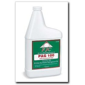 Show details of FJC OE Viscosity PAG Oil 100 with Fluorescent Leak Detection Dye quart.
