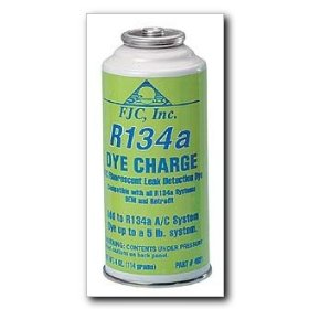 Show details of FJC DyeCharge Fluorescent Dye for R134a A/C Systems 4 oz. can.