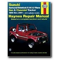 Show details of Haynes Suzuki Samurai Sidekick X-90 and Vitara Geo/Chevrolet Tracker (86 - 01) Manual (Paperback).