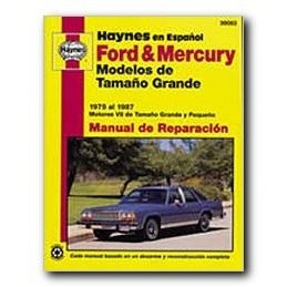 Show details of Haynes Ford and Mercury Modelos de Tamao Grande (75 - 87) Spanish Repair Manual.