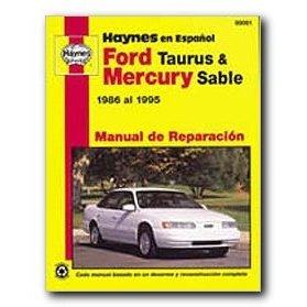 Show details of Haynes Ford Taurus and Mercury Sable (86 - 95) Spanish Repair Manual.