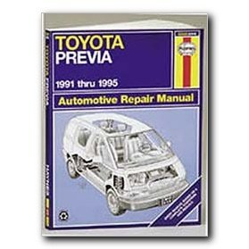 Show details of Haynes Toyota Previa (91 - 95) Repair Manual.