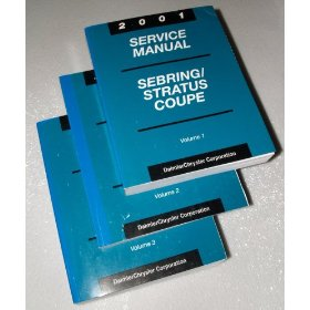 Show details of 2001 Chrysler Sebring Coupe - Dodge Stratus Coupe Service Manuals.