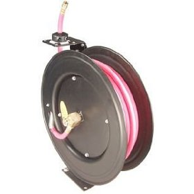 Show details of Astro Pneumatic Auto-Rewind Air Hose Reel w/ 3/8in. x 50' Air Hose.