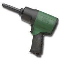 "Show details of SK Hand Tool 92135-2 Pro-Gun Magnesium Composite Air Impact Wrench - 1/2"" Drive with 2"" Extended Anvil."