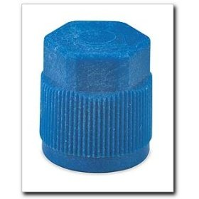 Show details of FJC R134a Service Port Cap Blue.