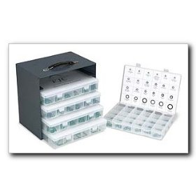 Show details of FJC Pro-Series O-Ring Assortment - 609 pieces.