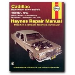 Show details of Haynes Cadillac Rear-wheel drive (70 - 93) Manual.