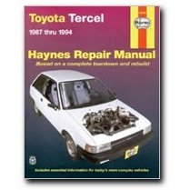 Show details of Haynes Toyota Tercel (87 - 94) Manual.