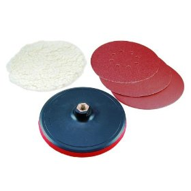 "Show details of 5-Piece Polishing and Sanding Accessory Set for 7"" Polishers."